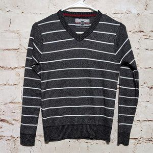 Boy's Dark Gray and White Sweater Size Med. 10-12